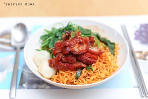 Cha Siew noodles by patchow