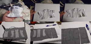 Making of my first doll dress pattern 2 by Ravica