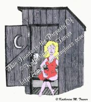 Female in Outhouse by Katrina1944
