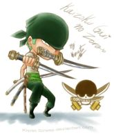 One Piece - Chibi_Ronoroa Zoro by Koret-Sirsep