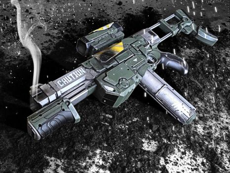Halo 4 Inspired Nerf Praxis by meandmunch