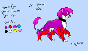 Tiga's Ref Sheet 2012 by TigaLioness