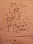 Harima And Molly-chan (sketch) by WendyLovesGreen