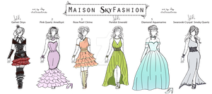 Maison SkyFashion Evening Collection (AdoptsOPEN!) by IceQueenRocks