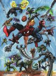 Spider-man and 18 villians by adamgeyer