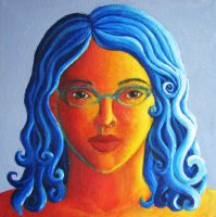 Warm and Cool Colors Portrait by WingedLioness
