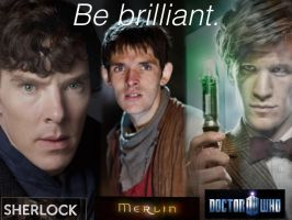 Sherlock, Merlin And Doctor Who by MagicRivers