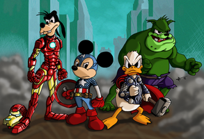 Disney's Avengers 2 by Gamusinohunter
