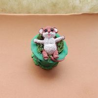 St. Patrick's Day figurine little mouse hat by koshka741