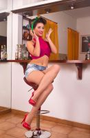 Bar stool pinup by ambageo