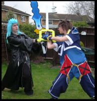 Sora vs Saix by KellyJane