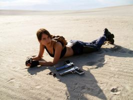 Lara Croft cosplay: relaxation by TanyaCroft