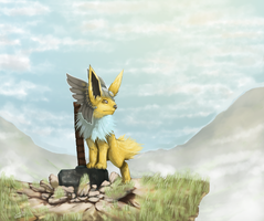 Jolteon's gift from Arceus by Hellonaut