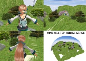 MMD Hill Top Forest Stage Download by SachiShirakawa