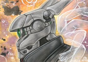 ACEO - Briareos Hecatonchires by BloodhoundOmega