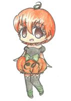 Pumpkin-Girl Adoptable .:SOLD:. by Cherryberrybonbon