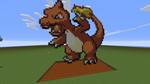 ~~Charmeleon~~Minecraft pixel art~~ Pokemon by InkBlot2014
