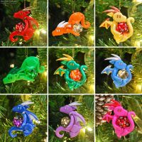 Dragon Ornaments by HowManyDragons