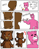 Pedobear and Gloomy by uwldkillforthis