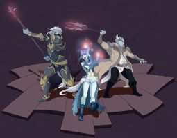 Aion_Asmo_group by tear13