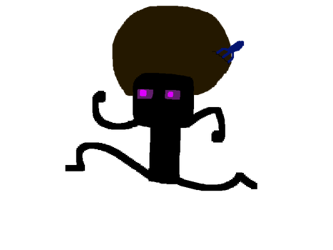 Deadlox the Afro Enderman by WakaWakaPOW