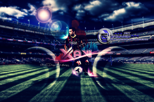 Xavi Hernandez | Wallpaper by EnriquezArt