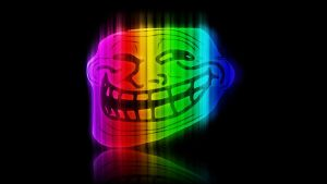 Trollface Spectrum Wallpaper by TheJesusLizard