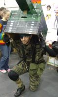 Solid Snake with Tankguise by lunamaxwell