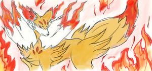 Fennekin evolution by roblee96