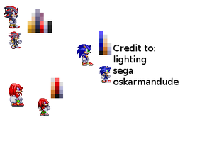 Awsum shading on sonic sprites by Oskarmandude