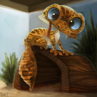 DAY 167. Leopard Gecko (30 Minutes) by Cryptid-Creations