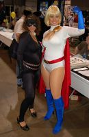 Catwoman and Powergirl 2 by PsychedelicOrange