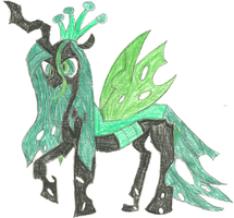 Queen Chrysalis by HyperactiveChaosgirl