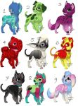 Puppy Adoptables - OPEN by Hiddencrying
