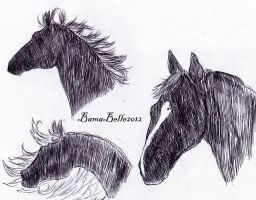 Horses Silhouette by BamaBelle2012