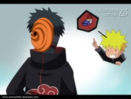 KONOHA CORNER :Tobi and Naruto by annria2002