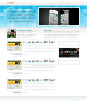 iReview HTML + PSD DOWNLOAD by gerbengeeraerts