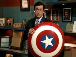 Colbert is TakingUpTheShield by TakingUpTheShield