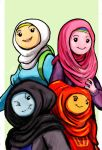 Adventure Time Girls - Hijab Style by TheLivingShadow