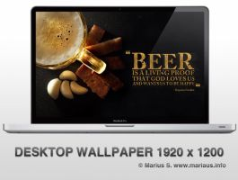A wallpaper for beer lovers by marius-s