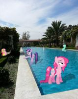 Ponies at the Getty Villa by DeJiKo07