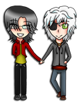 PC 1/3 -  SeRe holding hands~ by TheYamiClaxia
