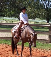 my cousin on horse back by UrielStock