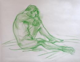 Life Drawing Feb5 by ChristineAltese