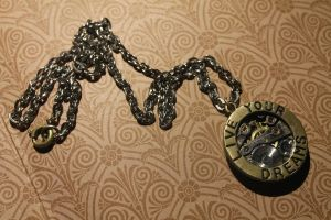 Steampunk necklace by 96kotten