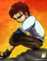 Lonely Gaara by darkeyez07