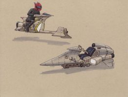 hover cycle and chopper by Jepray