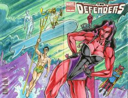 The Defenders Sketch Cover by bphudson