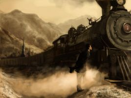 No. 3 Steam Engine Locomotive by rickycolson