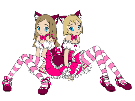 Soul Eater - Liz And Patty As Cats by 4br1l